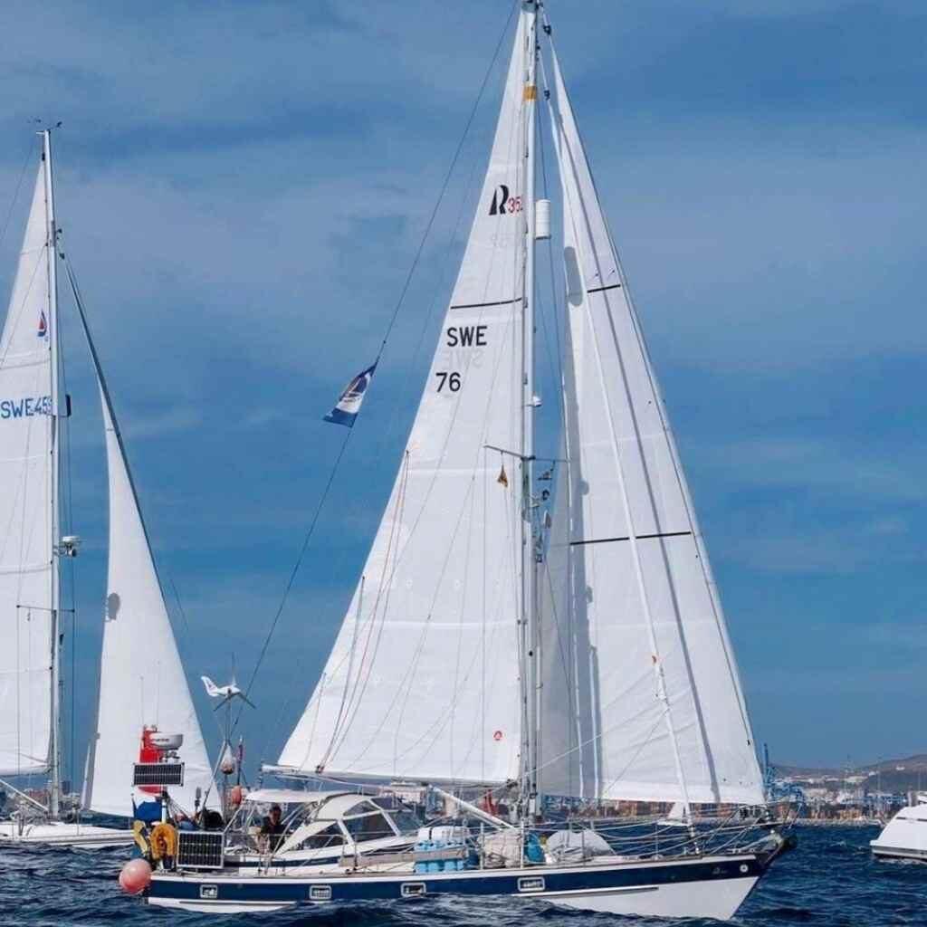 Hallberg rassy 352 single handing sailboat