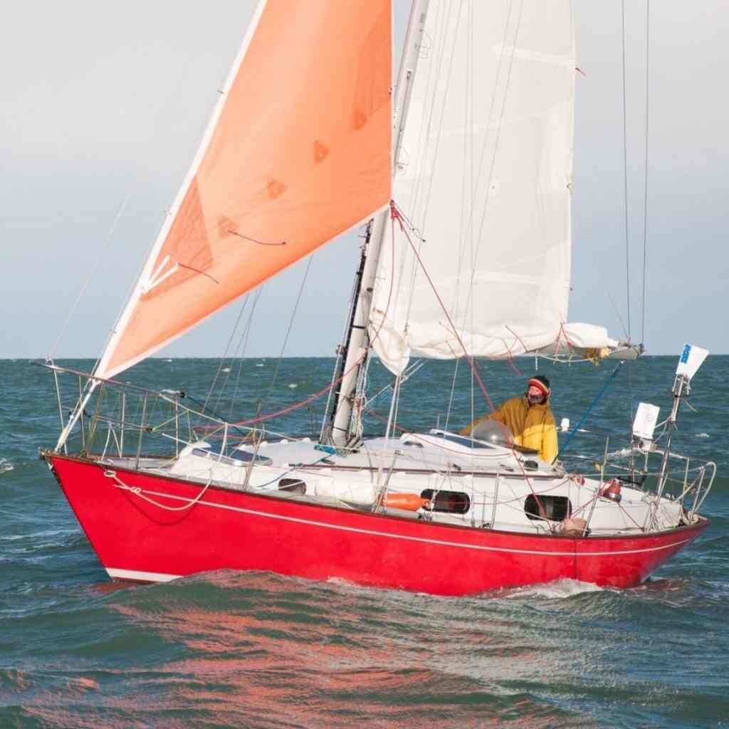 contessa 32 solo sailing sailboat