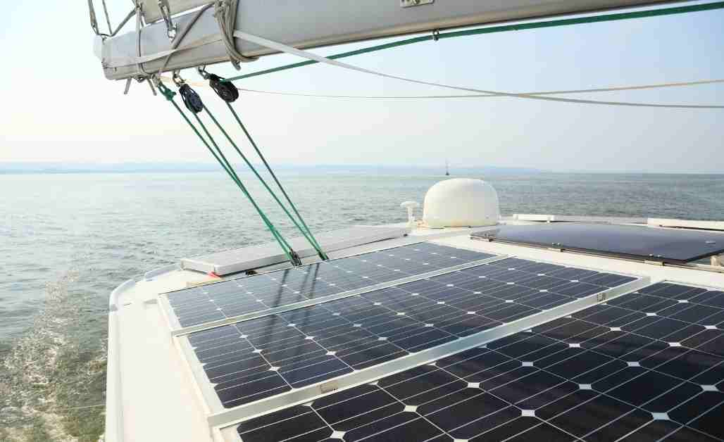 Charging boat batteries with solar panels